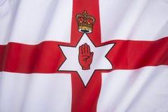 Flagga av det nordliga - Irland - Ulster banret Arkivfoto