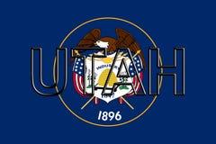 Flagga av det Utah ordet Arkivbild