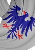 Flagga av det Varmland länet, Sverige Arkivfoton