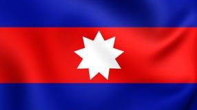 Flagga av det Wa tillståndet stock illustrationer