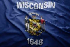 Flagga av det Wisconsin tillståndet royaltyfria foton