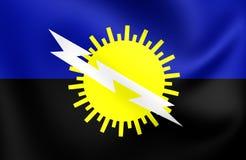 Flagga av det Zulia tillståndet, Venezuela vektor illustrationer