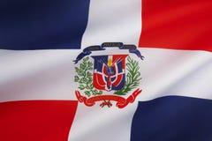 Flagga av Dominikanska republiken Royaltyfria Bilder