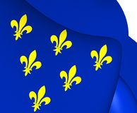 Flagga av Donceel, Belgien vektor illustrationer