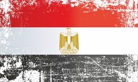 Flagga av Egypten, Arabrepubliken Egypten Rynkiga smutsiga fläckar royaltyfri illustrationer