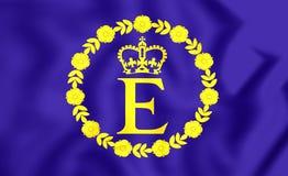 Flagga av EIIR royaltyfri illustrationer