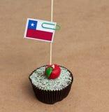 Flagga av en chile på muffin Fotografering för Bildbyråer