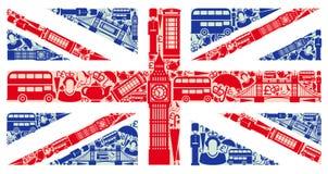 Flagga av England Arkivbilder