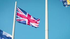 Flagga av England, logo av det statliga symbolet stock video
