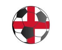 Flagga av England och fotbollbollen royaltyfri illustrationer