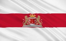 Flagga av Enschede, Nederländerna Royaltyfri Illustrationer