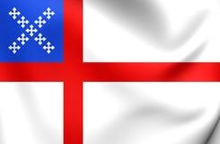 Flagga av episkopalkyrkan stock illustrationer