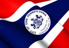 Flagga av Erie, USA stock illustrationer
