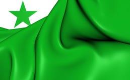 Flagga av esperantona close upp stock illustrationer