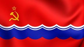Flagga av estländaren SSR vektor illustrationer