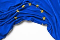 Flagga av Europa på vit bakgrund royaltyfri foto