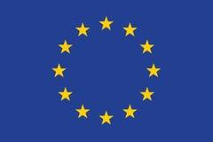 Flagga av Europeiska union Royaltyfri Bild