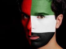 Flagga av Förenade Arabemiraten Royaltyfria Bilder