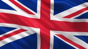 Flagga av Förenade kungariket den sömlösa öglan stock illustrationer