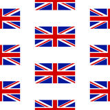 Flagga av Förenade kungariket den sömlösa modellen Arkivfoton