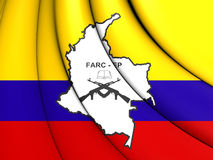 Flagga av FARC-EP stock illustrationer