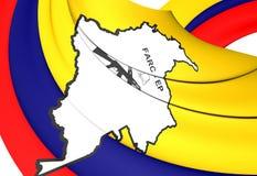 Flagga av FARCEN-EP stock illustrationer