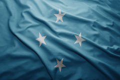 Flagga av Federated States of Micronesia royaltyfri foto
