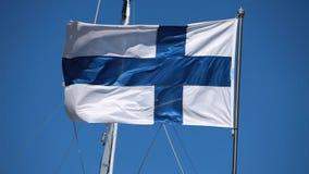 Flagga av Finland stock video