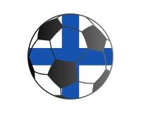Flagga av Finland och fotbollbollen royaltyfri illustrationer