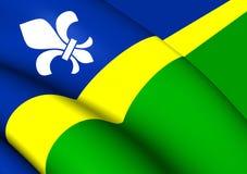 Flagga av Flevoland, Nederländerna vektor illustrationer
