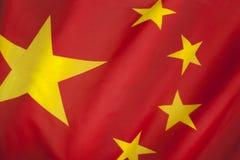 Flagga av folket Republiken Kina Royaltyfria Foton