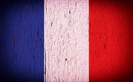 Flagga av Frankrike på skalningsmålarfärg Royaltyfri Bild