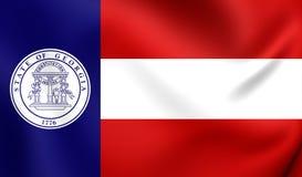 Flagga av Georgia State 1920-1956, USA royaltyfri illustrationer