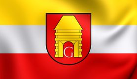 Flagga av Goscino, Polen royaltyfri illustrationer