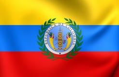 Flagga av Gran Colombia vektor illustrationer