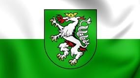 Flagga av Graz, Österrike stock illustrationer