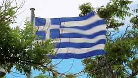 Flagga av Grekland stock video