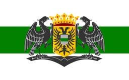 Flagga av Groningen, Nederländerna royaltyfria bilder