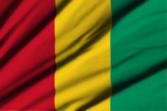 Flagga av Guinea Royaltyfria Bilder