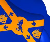 Flagga av Halifax, Kanada stock illustrationer