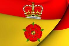 Flagga av Hampshire, England vektor illustrationer