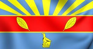 Flagga av Harare, Zimbabwe Arkivbilder