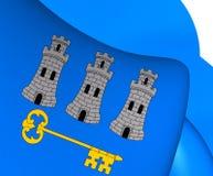 Flagga av havannacigarren, Kuba vektor illustrationer