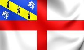 Flagga av hermen stock illustrationer
