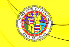 Flagga av Honolulu Hawaii, USA vektor illustrationer