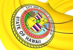 Flagga av Honolulu, USA stock illustrationer