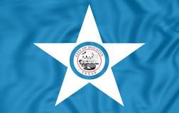 Flagga av Houston Texas, USA vektor illustrationer