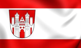 Flagga av Hoxter, Tyskland vektor illustrationer