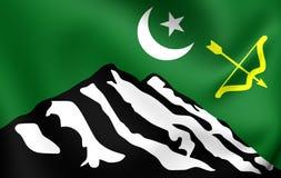 Flagga av Hunza royaltyfri illustrationer