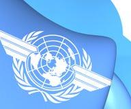 Flagga av ICAO royaltyfri illustrationer